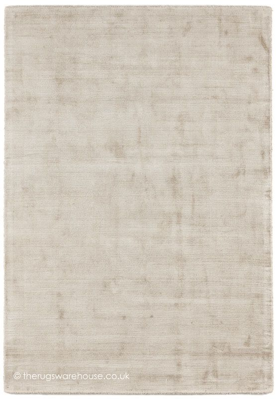 Trendy Shiny Cream Rug, A Luxury Hand Woven Modern Rug Made From 100%