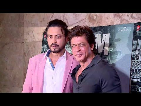 Shahrukh Khan at the screening of Irrfan Khan's MADAARI movie.