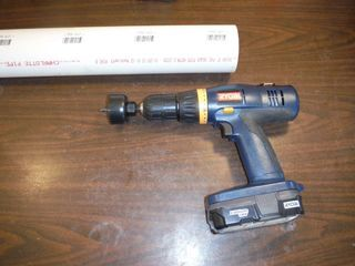 PVC Drill/Tool Holder using 3 inch PVC pipe