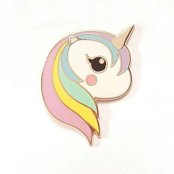 Pastel eenhoorn regenboog emaille Kawaii pin door StudioInktvis