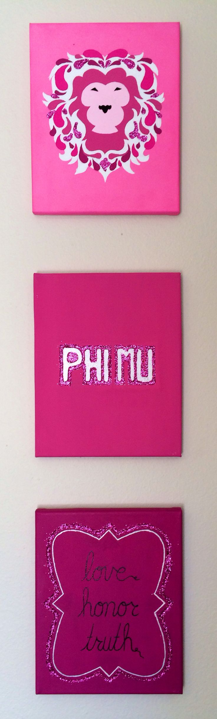 Ideas for Phi Mu canvases!
