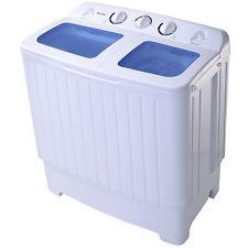 Goplus Portable Mini Compact Twin Tub 16.6lb Washing Machine Washer Spin Dryer