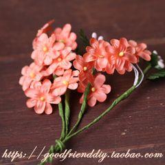 Маленькие оранжевые аксессуары букет DIY ювелирные изделия ручной работы (0300X)