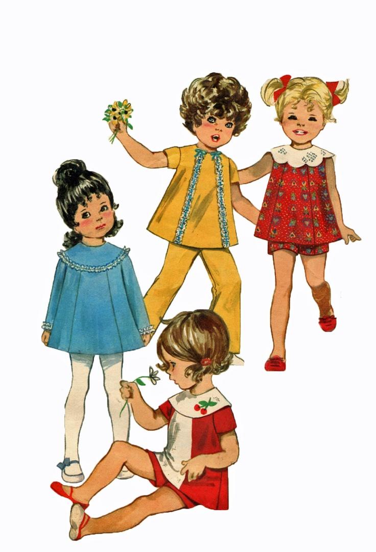 Butterick 5521 1960s Girls Dress Sewing Pattern Shorts Pants Tunic Size 2 T. $5.00