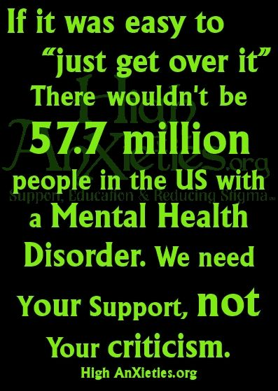57.7 million people in the US have some sort of mental health disorder