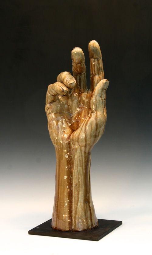 Raku Hand Bob Clyatt  Sculpture  Hand  Foot  Hand