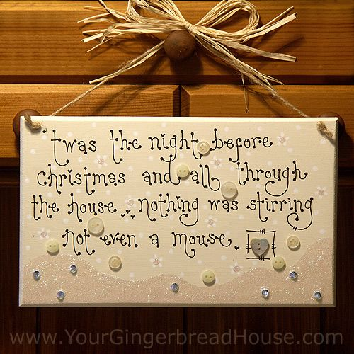 ... the night before christmas and all through the house… nothing