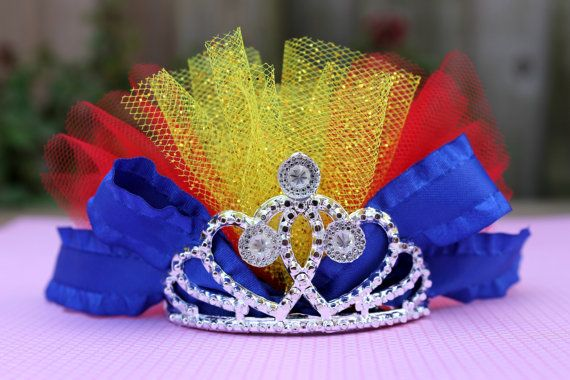 SNOW WHITE Tutu Tiara  Disney Princess Crown by JustForJolee, $12.50
