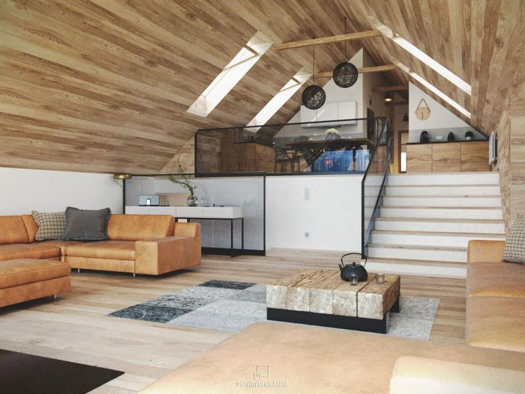 mountain loft by seryjny projektant - Interieur Mit Rustikalen Akzenten Loft Design Bilder