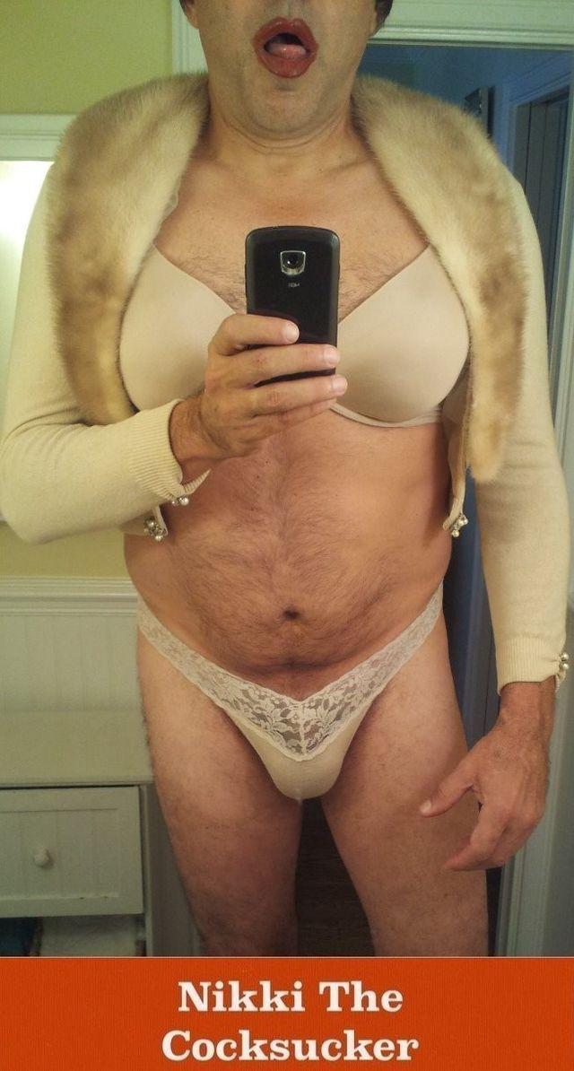 Sissy NikkiRoo Dressed as a Cocksucker