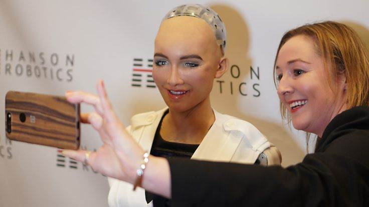 A clunky chat with Sophia the robot  ||  An awkward audience with a celebrity robot still has the power to impress. http://www.bbc.co.uk/news/technology-42616687