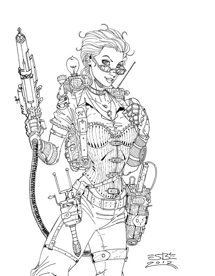 136 best Steampunk Coloring images on Pinterest | Coloring books ...