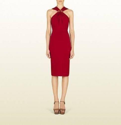 1500 GUCCI Raspberry Halter Dress  Medium
