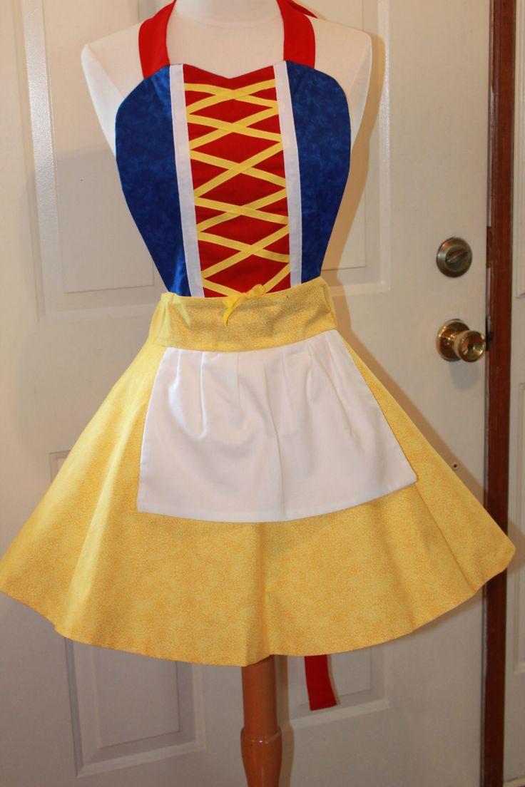Snow white apron etsy - Snow White Costume Apron