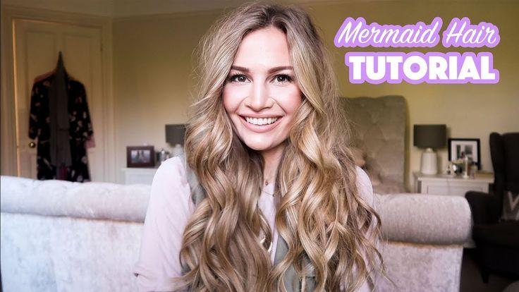 Mermaid Hair Tutorial   Anna Saccone - YouTube