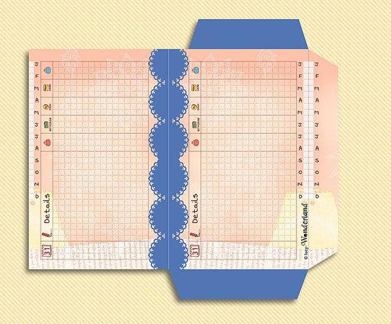 Printable Budget envelope for FIlofax MINI size di lucyWONDERLAND