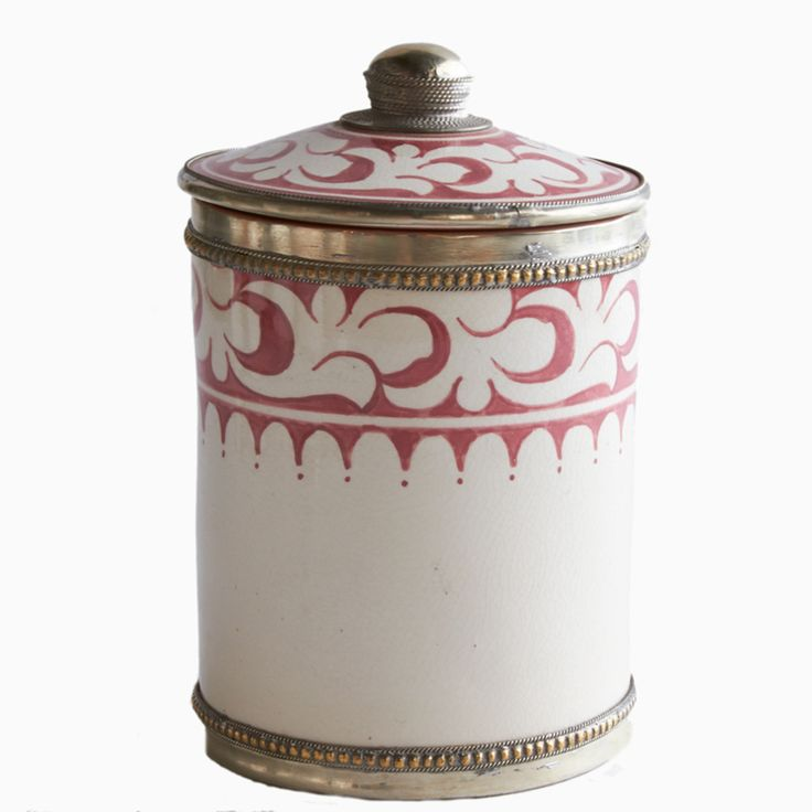 Atlas Red Moroccan Tadelakt Ceramic Canister | Shop | Project Bly