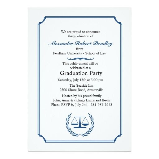 lawyers corner graduation invitation - Law School Graduation Invitations