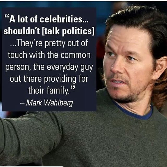 You tell them Mark! I'm proud of you, not afraid to speak your mind like the rest of the pussies in Hollywood. good to know there's a few of you left with the brains...