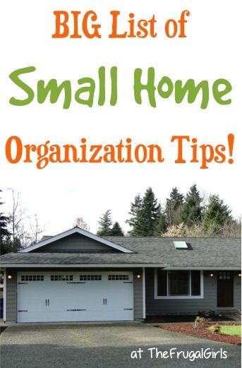 42 Small Home Organization Tips! You'll love these organizing tips to get your cute little house in tip-top organized shape! | TheFrugalGirls.com