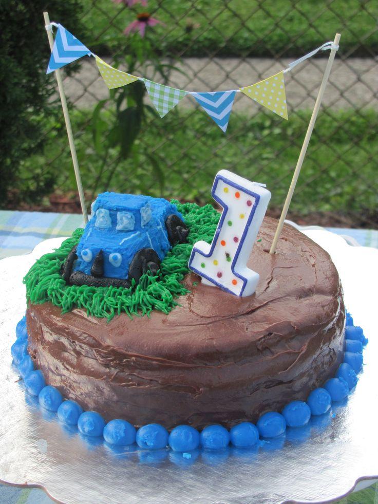 little blue truck birthday cake bert s birthday truck birthday cakes ...