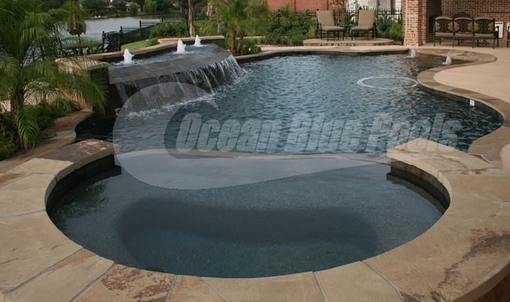 Pool Spa Water Feature And Sun Deck With Bubblers Nice