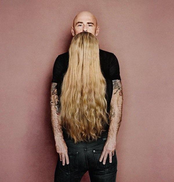 Fast so gut wie der Bart heute von der Frau in der…
