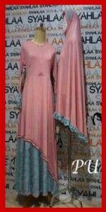 baju gamis muslim syari syahla bergo P149