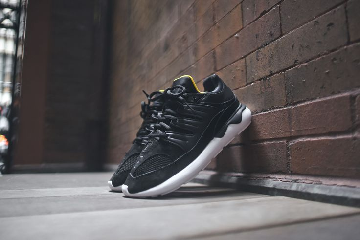 adidas originals tubular 93 primeknit trainers in black