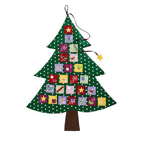 debenhams green christmas tree advent calendar. Black Bedroom Furniture Sets. Home Design Ideas
