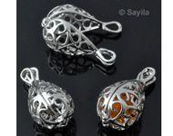 www.sayila.be - Metalen hanger/bedel DoubleBeads EasySwitch druppel ± 27x13mm mogelijk om te openen voor kraal 9mm binnenin, Prayer Box - 27699