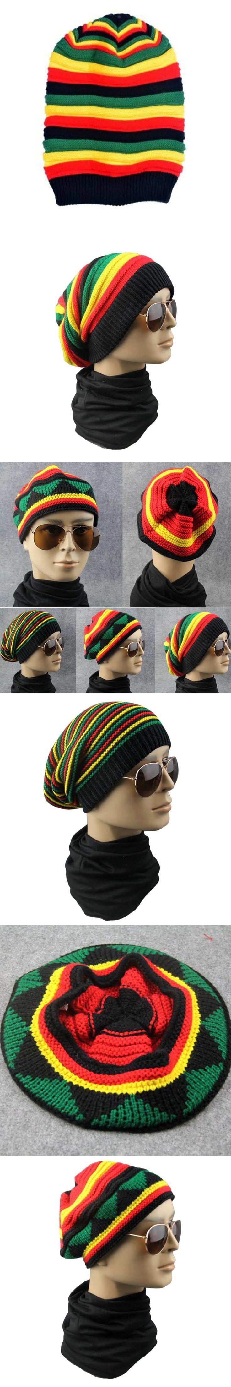 Winter Hip Hop Bob Jamaican cap Rasta Reggae Hat Multi-colour Striped Beanie Caps Hats For Men Women fashion new style Bonnet