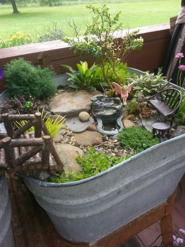 200 best images about mini gardens container gardens fairy gardens on pinterest gardens metal - Fairy garden containers ...
