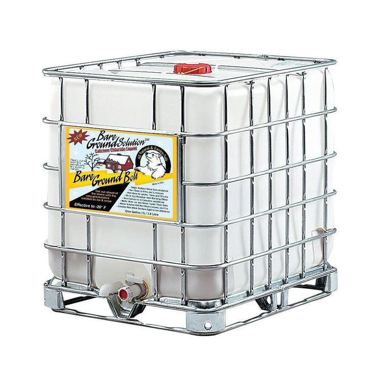 275 Gal. Skidded Tote Bolt Liquid Calcium Chloride Ice Melting