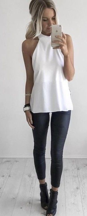 35 Ultra Trendy Summer Outfits To Upgrade Your Wardrobe - Black and White                                                                             Source