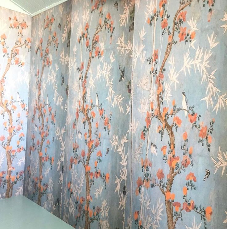 CHINESE WALLPAPER PATTERN // Used in the Swiss spring racing carnival tent, we absolutely love the traditional patterns