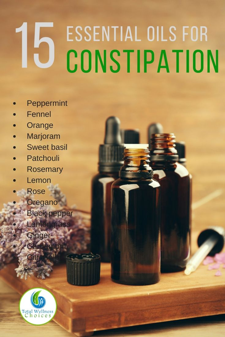 15 Best Essential Oils for Constipation via @wellnesscarol