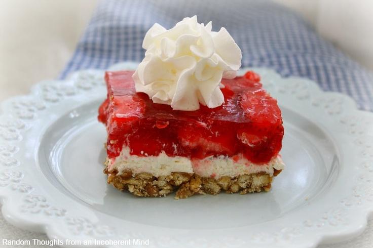 Strawberry Pretzel Squares | SWEETS | Pinterest