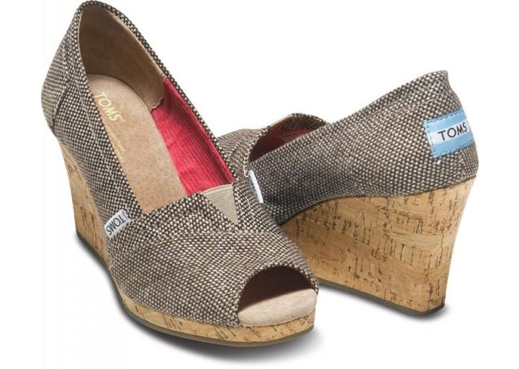 toms :): Shoes, Toms Wedges, Fashion, Style, Toms Shoe, Metallic Tweed, Tweed Tom, Tom Wedges