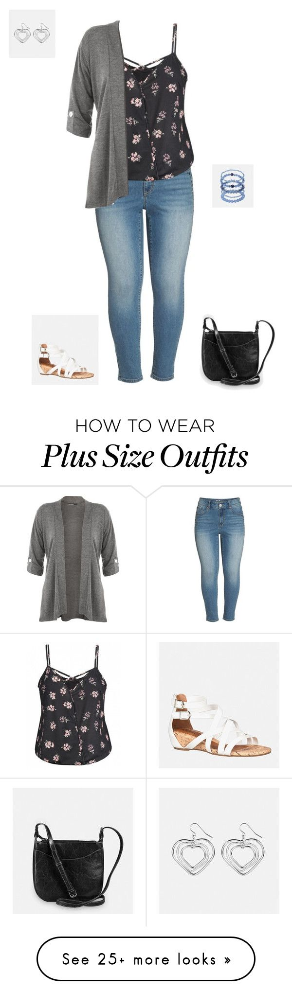 """""""Plus Size"""" by jessiemt2 on Polyvore featuring Seven7 Jeans, Avenue and WearAll"""