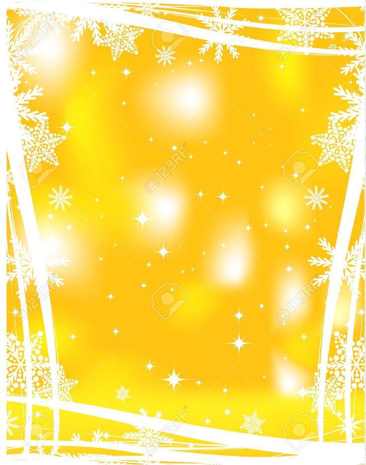Желтый фон Рождество Клипарты, векторы, и Набор Иллюстраций Без Оплаты Отчислений. Image 13314480.