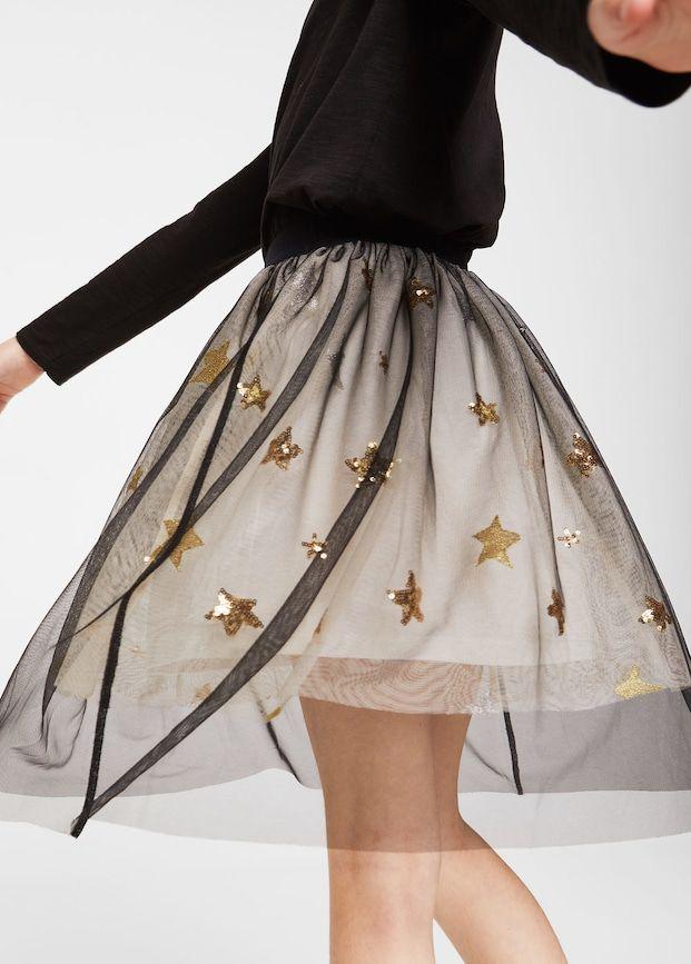 Star tulle skirt