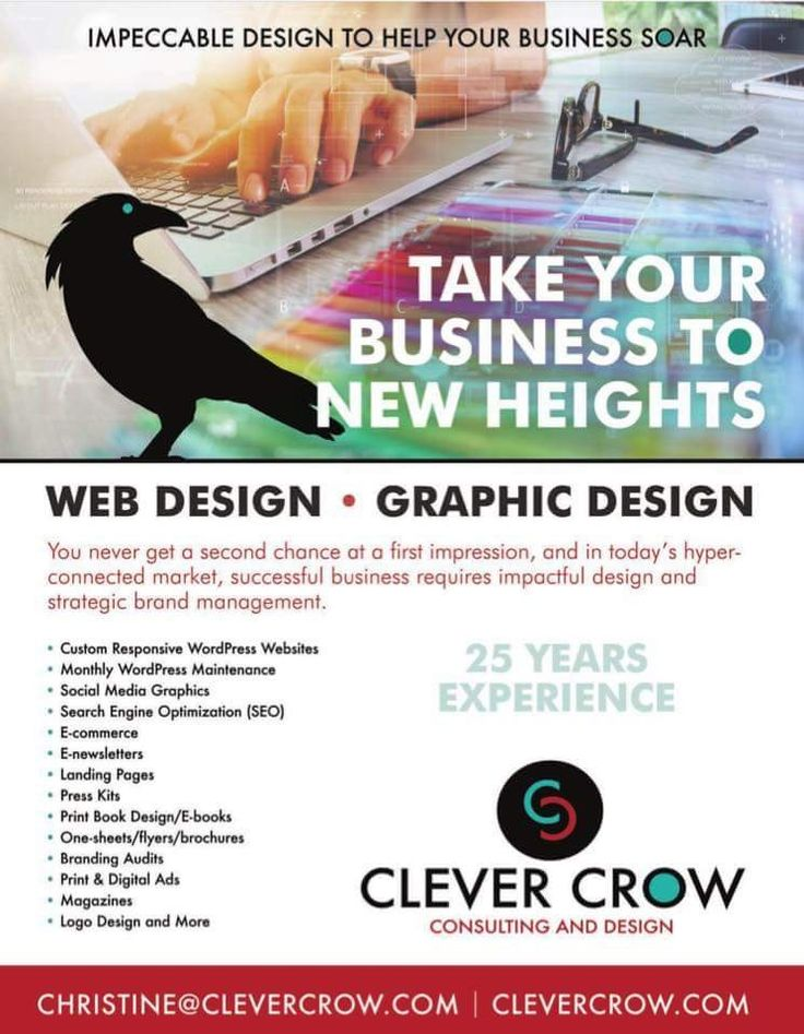 Clever Crow Consulting and Design has over 25 years experience in web and graphic design. They will take your business to new heights using impactful design and strategic brand management.  Christine M. Scott is the creative spark that makes our gorgeous Magazine come to life before print!  Read more about Clever Crow in our spring issue!  Subscribe at: www.inspiringlivesmagazine.com  #SocialMediaGrahpics #Pittsburgh #Magazines #WordPress