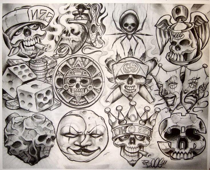 Boog Tattoo Flash Art