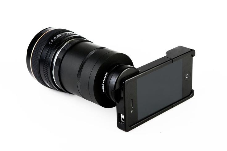 iPhoneにNikonのレンズを取り付けるアダプター「The iPhone SLR Mount」 : きよおと-KiYOTO
