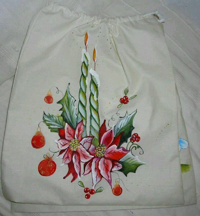 Centro de navidad pintar tela pinterest navidad - Dibujos para pintar en tela ...
