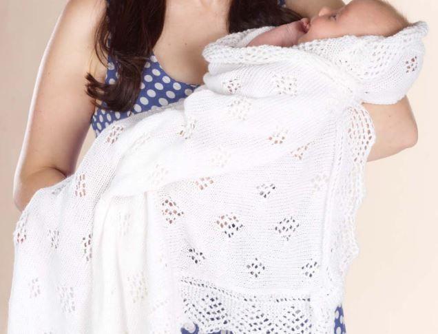 The Royal Look Baby Shawl Knitting Pattern