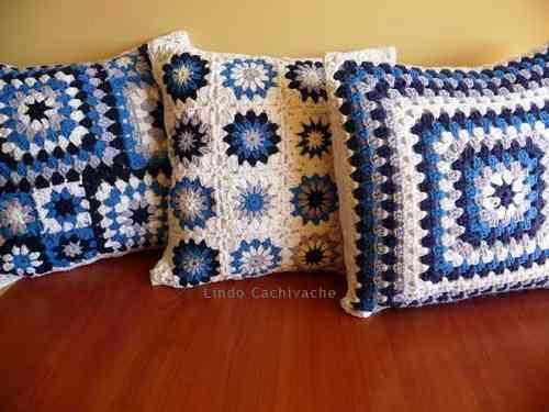 Almohadones - Tejidos Al Crochet - $ 190,00 en MercadoLibre