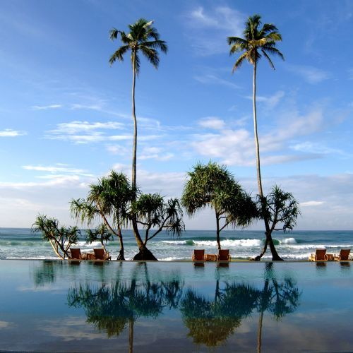 Infinity pool at The Fortress Hotel, Sri Lanka someone take me here
