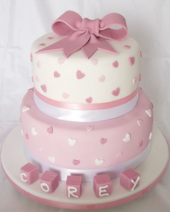 Pictures Of Birthday Cakes For Baby Girl : Best 20+ Christening Cake Girls ideas on Pinterest ...